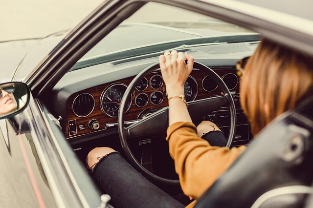 Interiér staršího vozidla