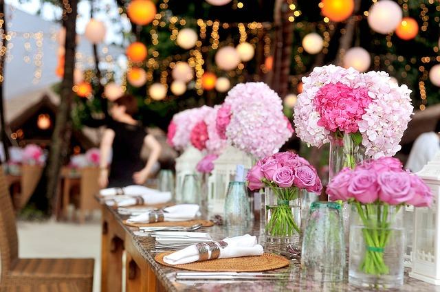 svatební tabule – květiny